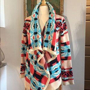 SALE ❗️Aztec Boho Geometric Sweater Jacket